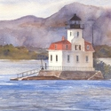 New York, Hudson River, Esopus Lighthouse, lighthouses