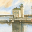 New York, lighthouses, Hudson River, Rondout