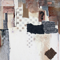 Black, white, brown, abstract, collge