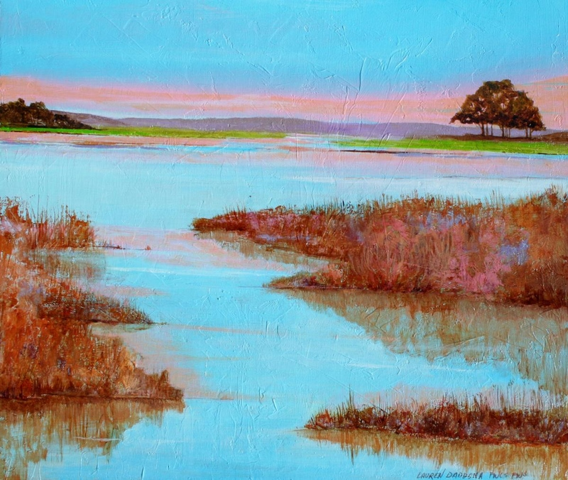 Acrylic, gallery wrapped canvas, marsh, wetlands