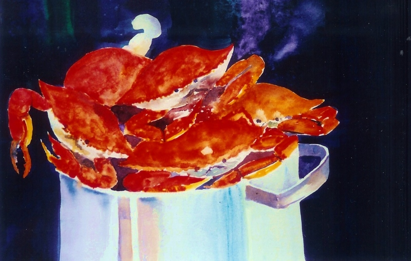 crabs, steamed crabs, pot, cooking crabs