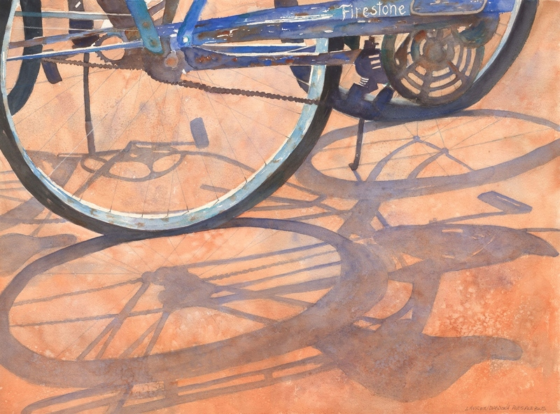 bikes, shadows, firestone