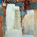 abstract, acrylic, Blues, browns