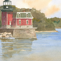 New York, Hudson River, Lighthouses, Hudson Athens,