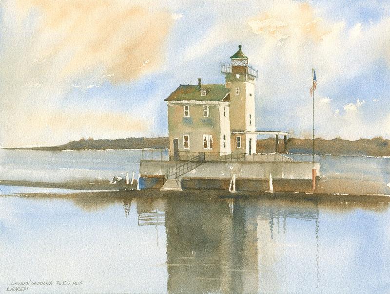 New York, lighthouses, Hudson River, Rondout