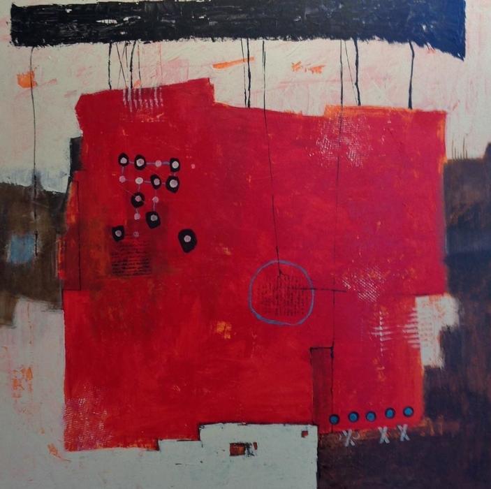 Abstract, mixed media,